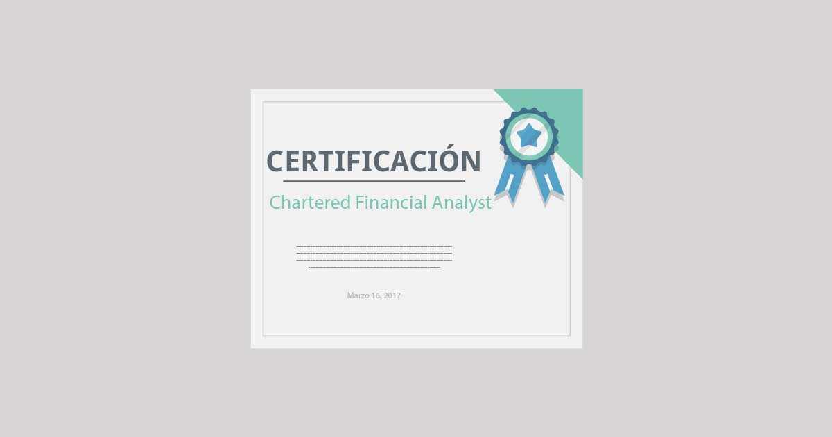 certificacion cfa finanzas