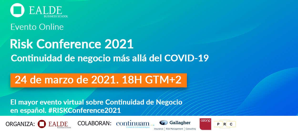 Cómo serán las ponencias de la Risk Conference 2021